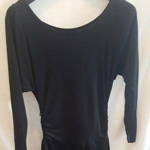 THEORY Long sleeve black mini dress